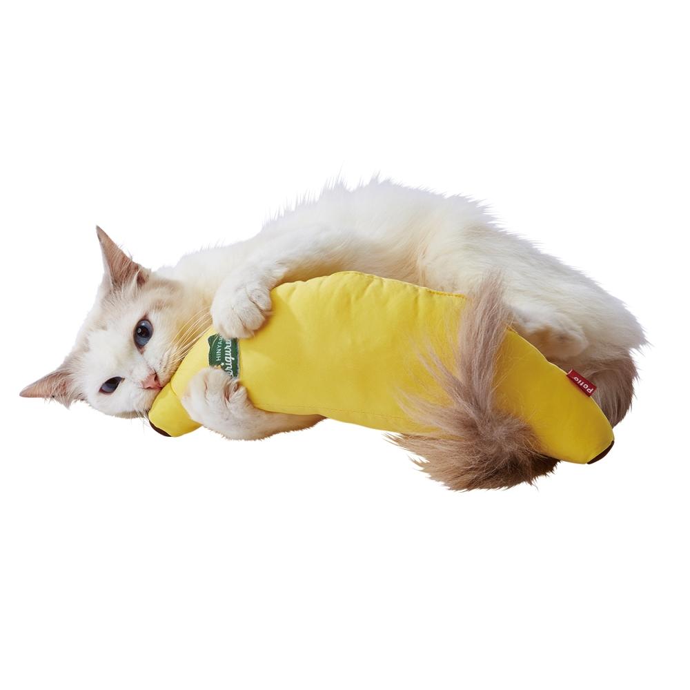 ペティオ 犬猫用 ひんやりけりぐるみバナナ