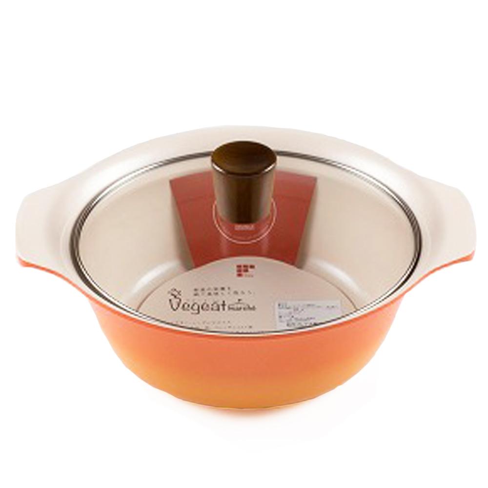 和平フレイズ ベジートマルシェ 卓上鍋21cm RB−1240 グリッターオレンジ 幅29.2×奥行24.7×高さ13.8cm