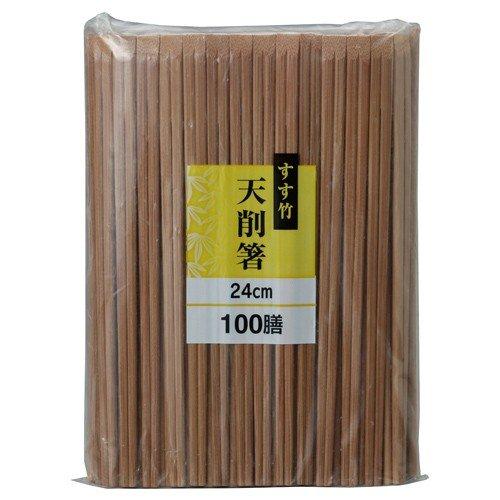 大和物産 スス竹天削箸24cm 100膳