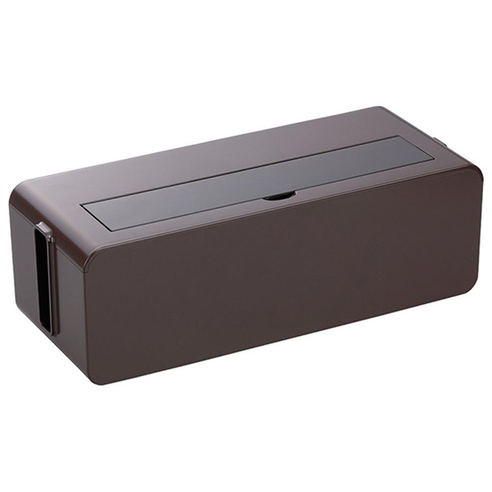イノマタ化学 テーブルタップボックス L ブラウン