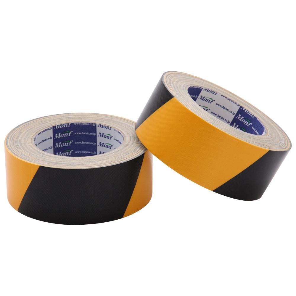古藤工業 安全標示用布粘着テープ 黄/黒 幅100mm×長さ25m