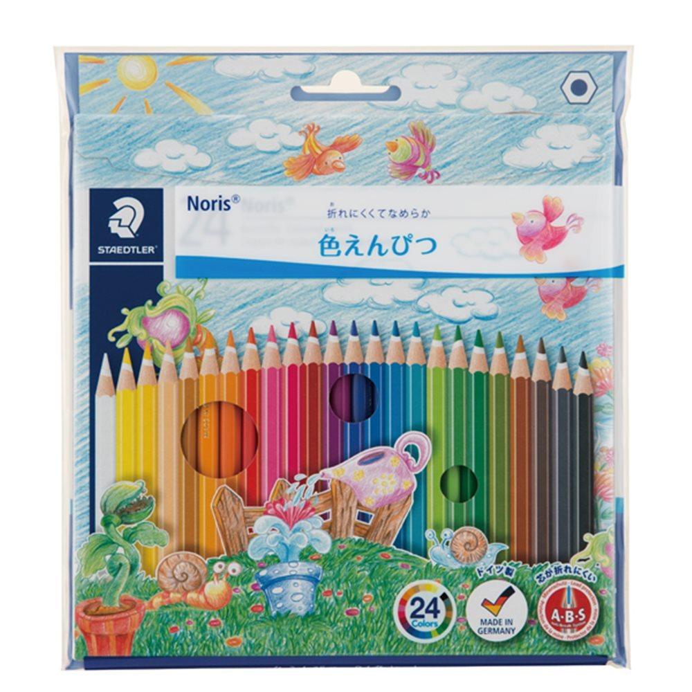 ノリスクラブ 色鉛筆 24色セット (PPパッケージ仕様) 144 NC24P