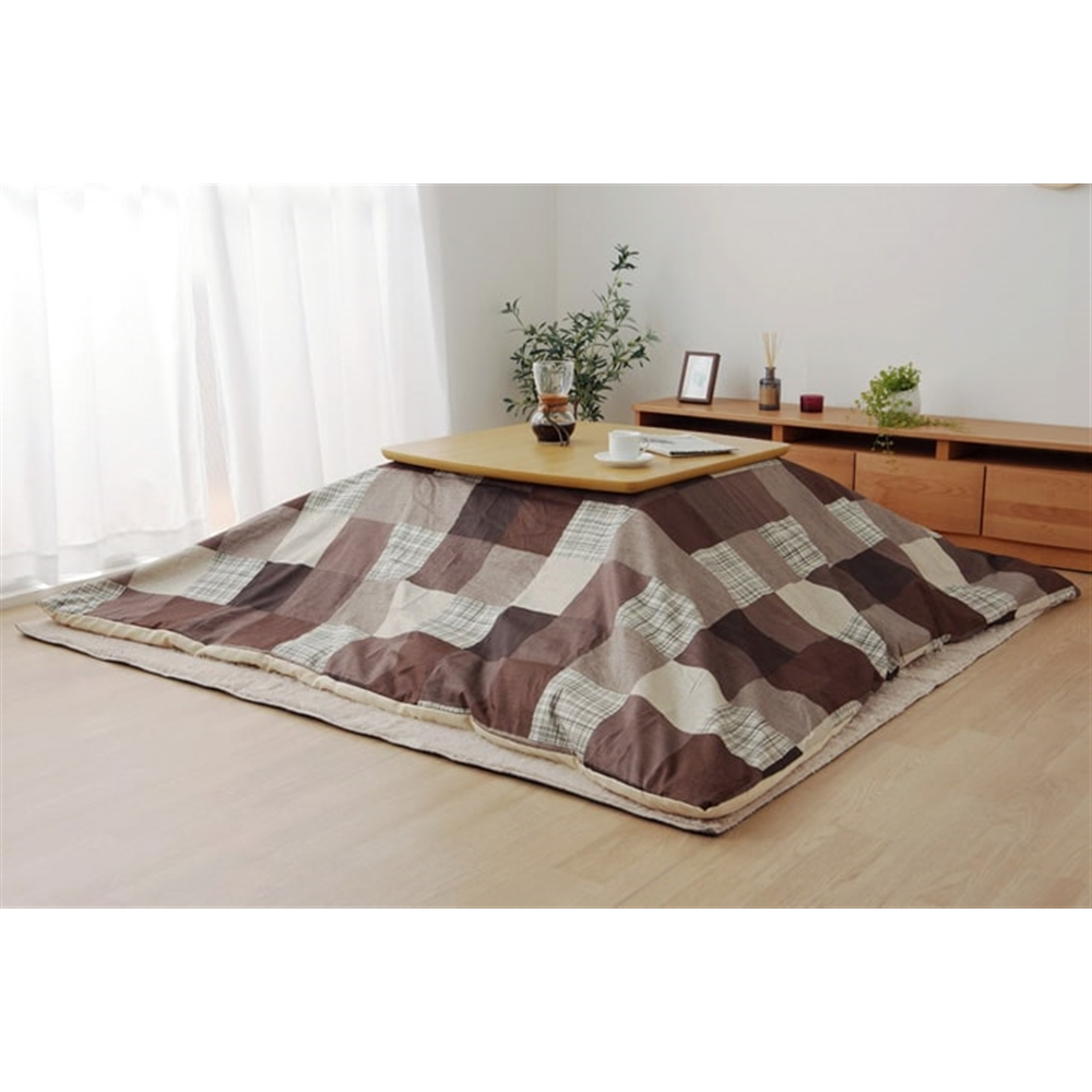 イケヒコ・コーポレーション(IKEHIKO) こたつ布団 カバー正方形 洗える カバー カジュアル   グレー 約195×195cm 「マルク カバー」