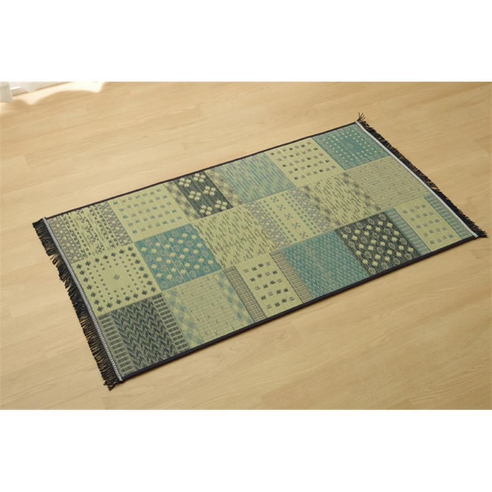 イケヒコ・コーポレーション(IKEHIKO)  玄関マット 室内 おしゃれ 国産い草 『Fゾラン』 ネイビー 約60×90cm