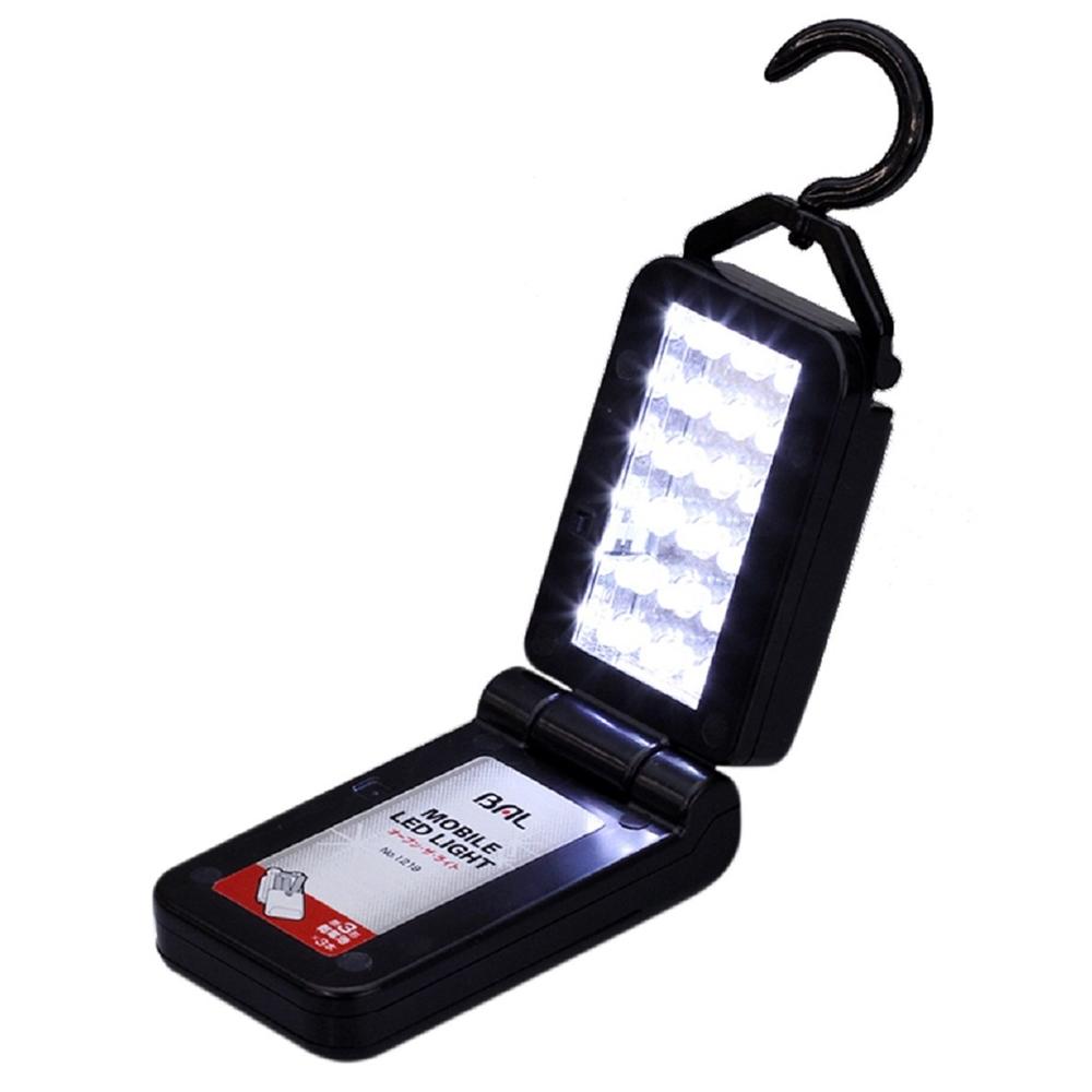バル(BAL) 超高輝度白色 18灯 モバイル LEDライト ブラック 1219