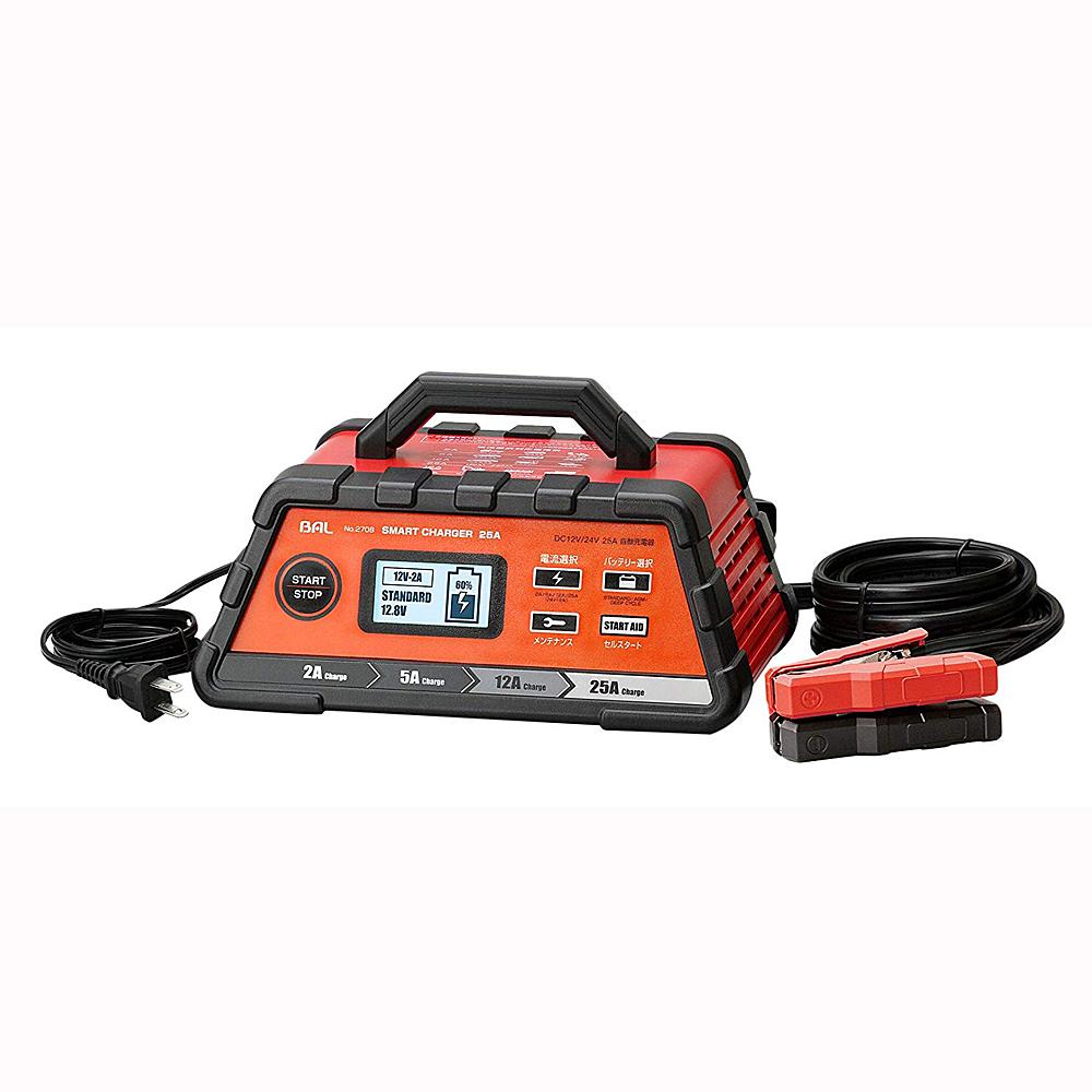 BAL (大橋産業) 充電器 スマートチャージャー 12V/24V 25A 自動車・農機・建設機械 2708