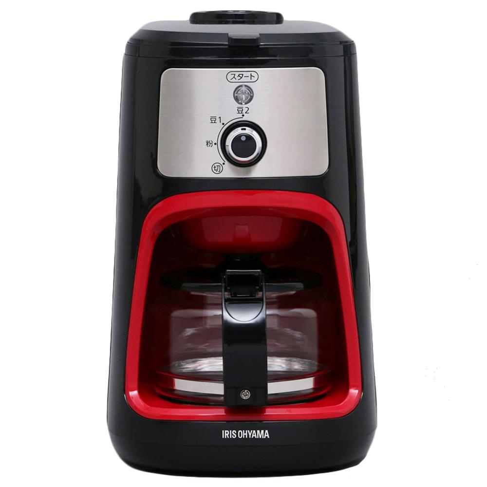 アイリスオーヤマ(IRIS OHYAMA) コーヒーメーカー 全自動 メッシュフィルター付き 1〜4杯用 ブラック IAC-A600