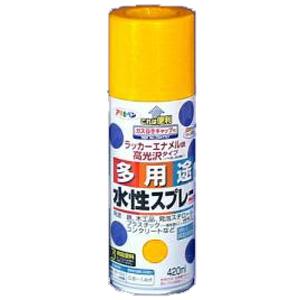 アサヒペン(Asahipen) 水性多用途スプレー イエロー 420ml
