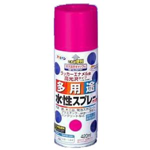 アサヒペン(Asahipen) 水性多用途スプレー コスモスピンク 420ml