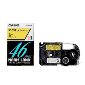 ネームランドテープ マグネットテープ 46mm 黄に黒文字 327709