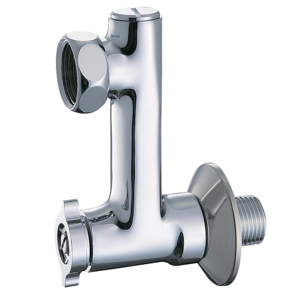 三栄水栓(SANーEI) 【流量調節・ストレーナ内臓 寒冷地仕様】 ベンリー偏心管 水抜き付き U3−80X−70