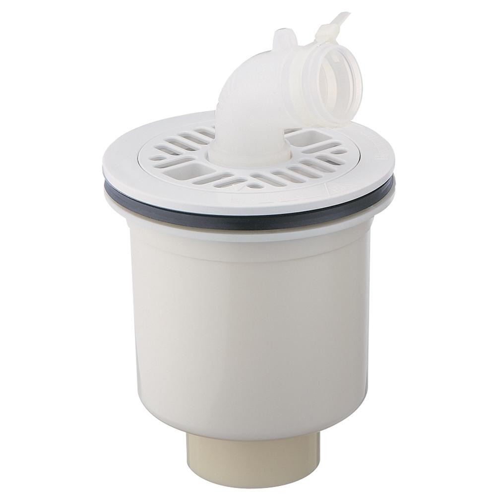 SANEI 【洗濯機排水トラップ】 縦引き用 ホワイト H5550C-W-50