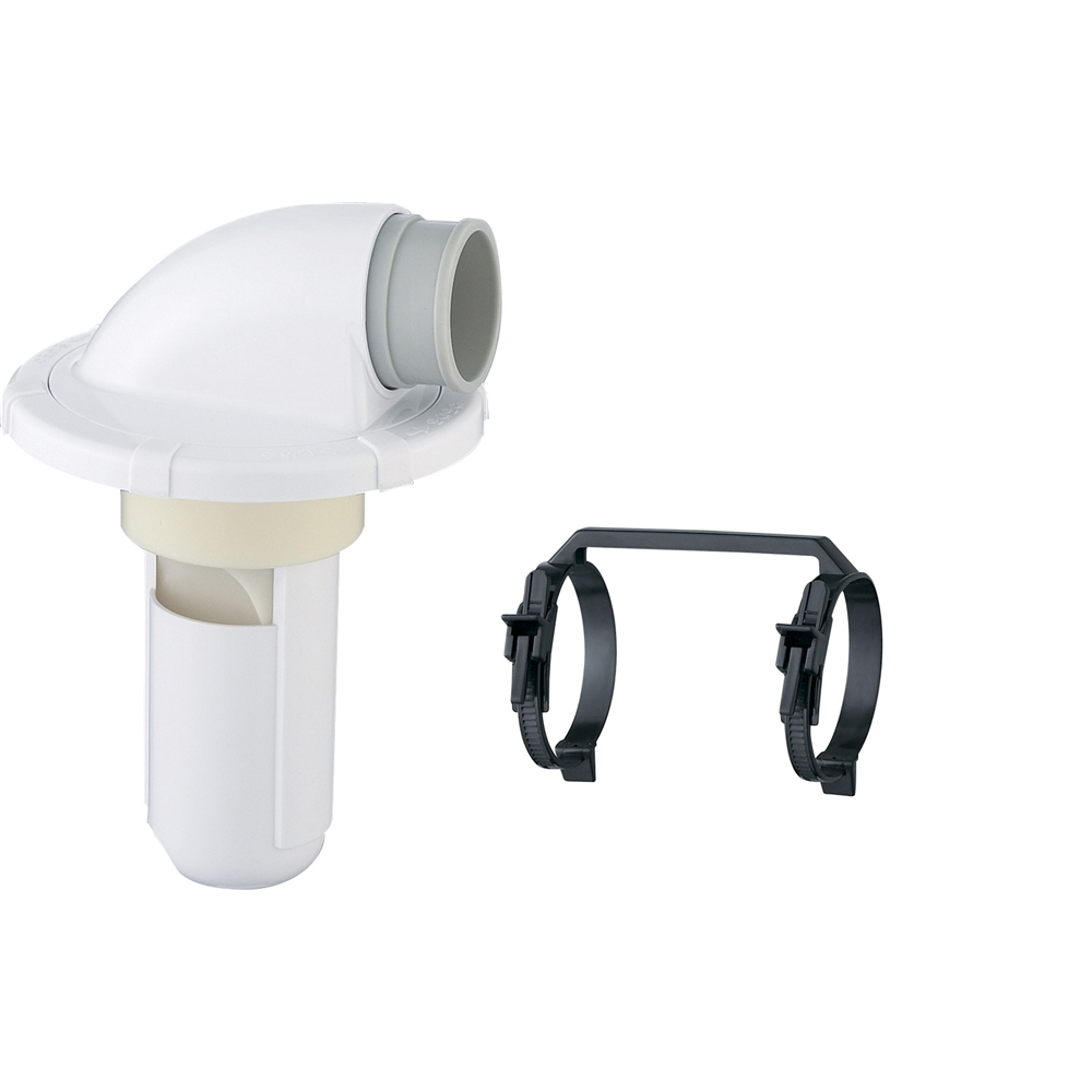 SANEI 【洗濯機ホース用の排水トラップ】洗濯機排水トラップ VP・VUパイプ兼用 ダブルバンド付 H5502-50