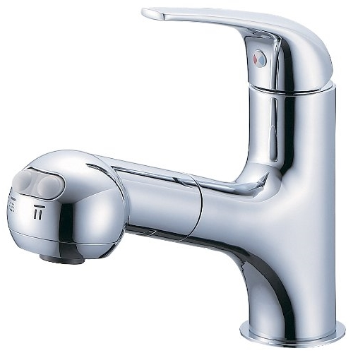 SANEI 【洗面所用混合栓】シングルスプレー混合栓 洗髪用 引出しホース式 1m K3703JV