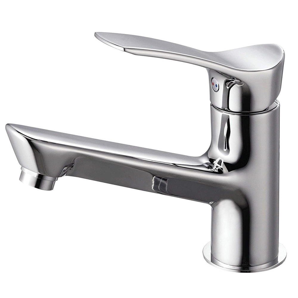 SANEI 【洗面用混合栓】 シングルワンホール洗面混合栓 ポップアップ無し ゴム栓なし 取り付け穴径36~40mm K4712NJV