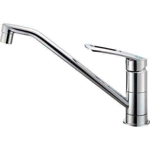 三栄水栓(SANーEI) 節約・エコ シングルワンホール混合栓 寒冷地仕様 取付簡単タイプ