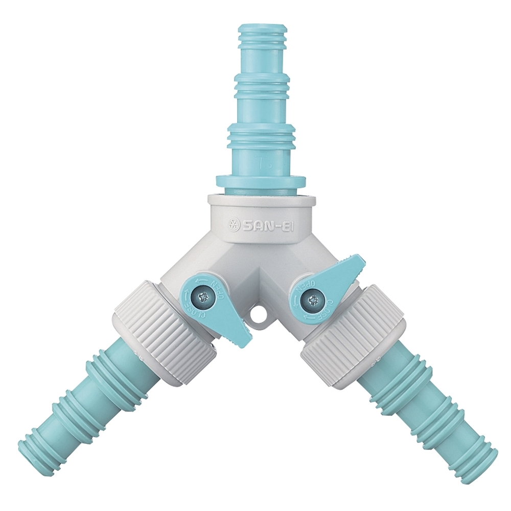 三栄水栓(SANーEI) 【2方向への分水に】 PC Y型コックツギテ PL48