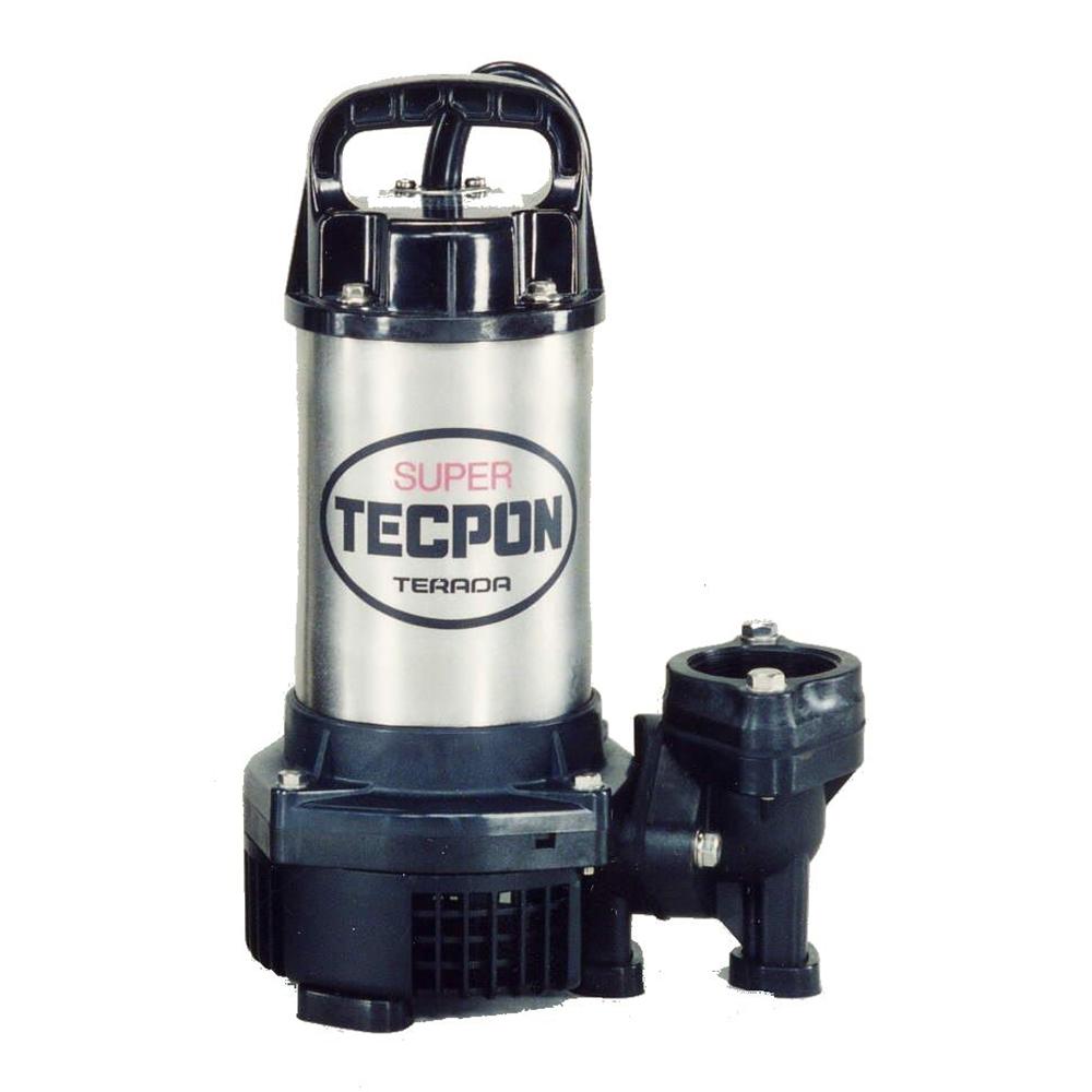 テラダポンプ 汚水用水中ポンプ 口径50mm 全揚程4.8m時 吐出量170L/分 PG-400T 60Hz 電源三相200V