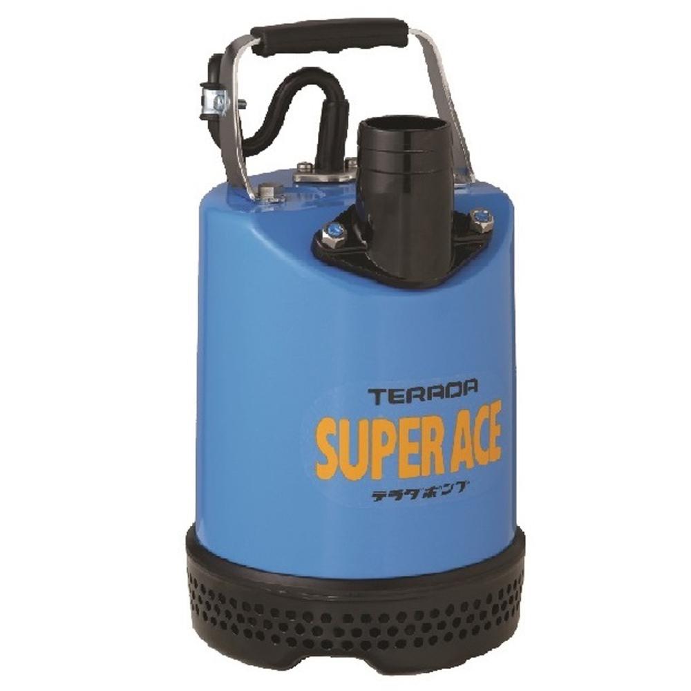 テラダポンプ 土砂用水中ポンプ 口径50mm 全揚程8.5m時 吐出量120L/分 S-500N 50Hz 電源単相100V