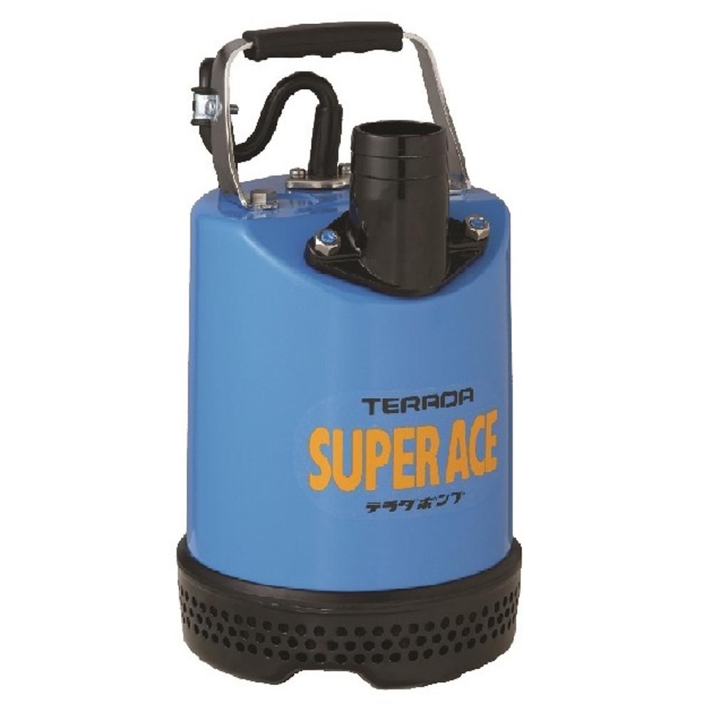 テラダポンプ 土砂用水中ポンプ 口径50mm 全揚程8.5m時 吐出量120L/分 S-500N 60Hz 電源単相100V