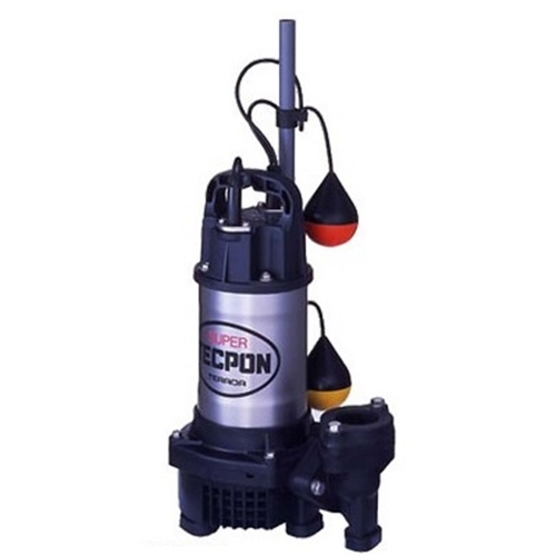 テラダポンプ 自動汚水用水中ポンプ 口径50mm 全揚程4.8m時 吐出量170L/分 PGA-400T 60Hz 電源三相200V