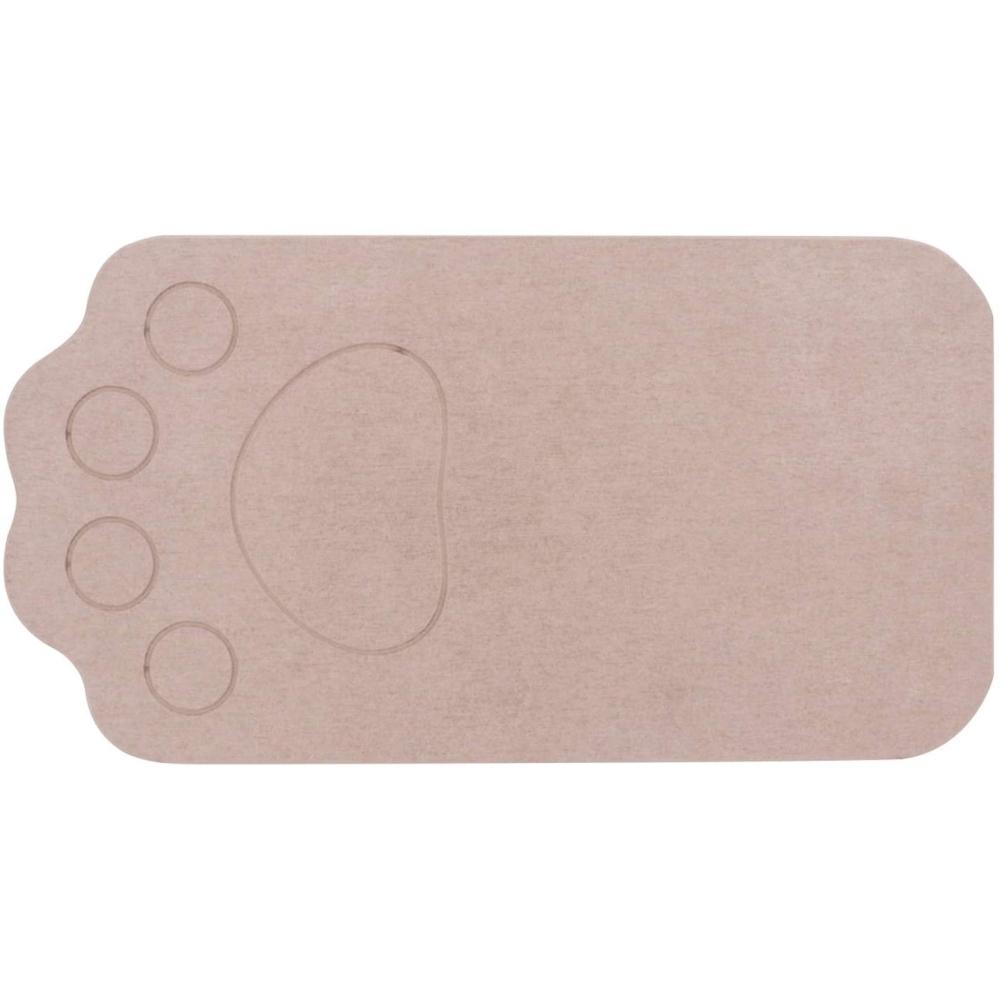ベストコ(Bestco) さらっと 珪藻土マット ブラウン 46×24.5cm ペット用 洗える ND-9151