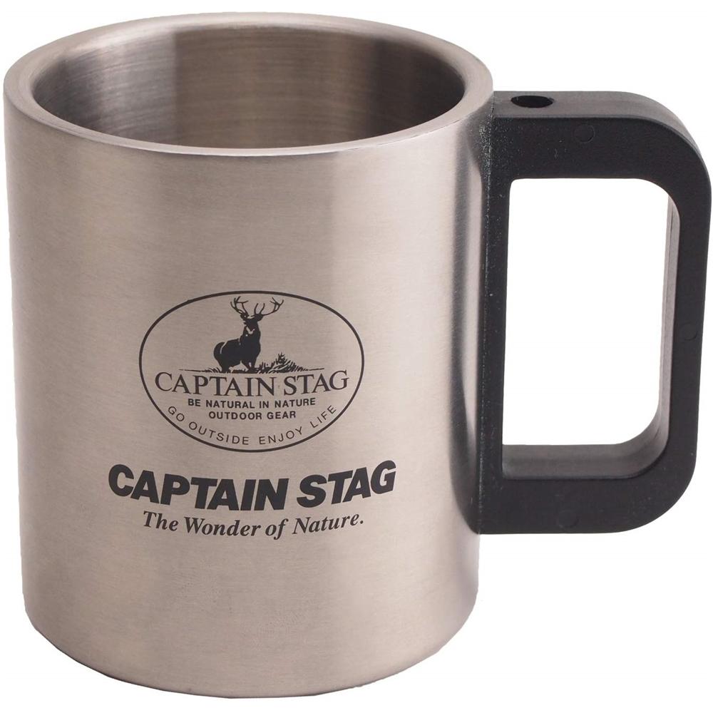 キャプテンスタッグ フリーダム ダブルステンマグカップ300ml M-7328