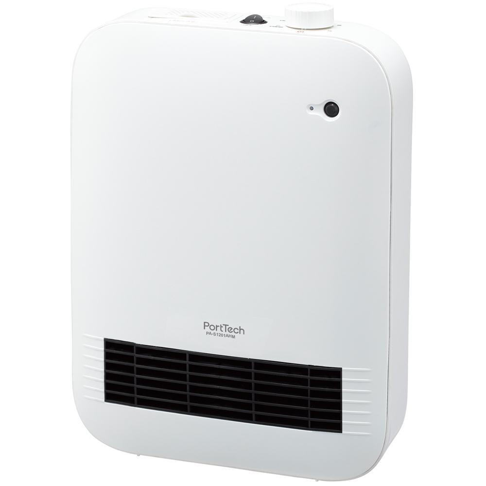 コーナン オリジナル PortTech セラミックヒーター PA−S1201AHM 1 ホワイト 約幅280×奥行162×高さ395mm