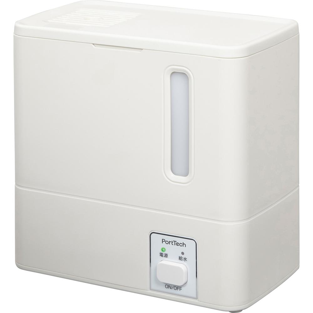 コーナン オリジナル PortTech スチーム式加湿器 PHY−035A 1 ホワイト 約幅260×奥行145×高さ260mm