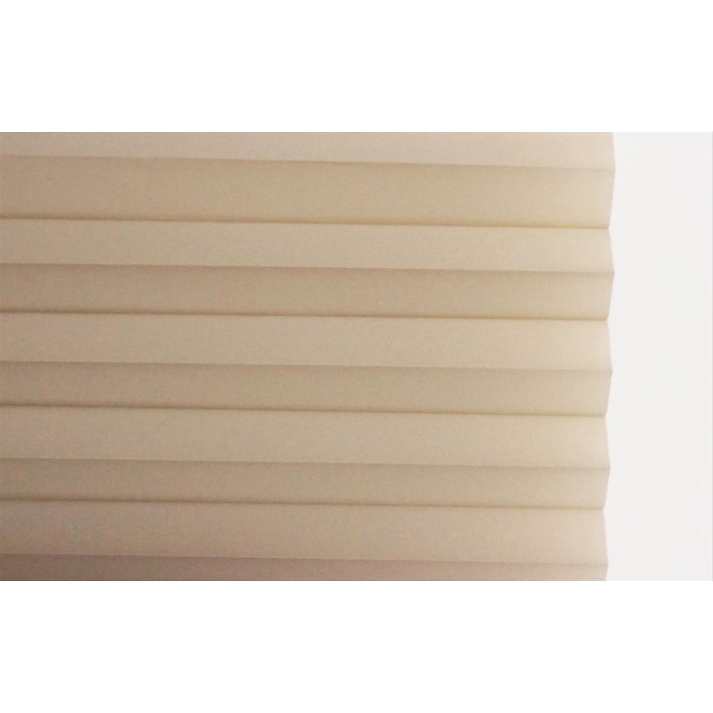 小窓用幅35×丈90cm 突っ張り棒付き ハニカムシェード  ベージュ