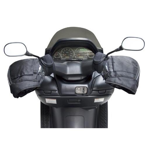 ユニカー工業 防寒 防水ハンドルカバー ブラック 汎用 BS006 ブラック (バイク用)