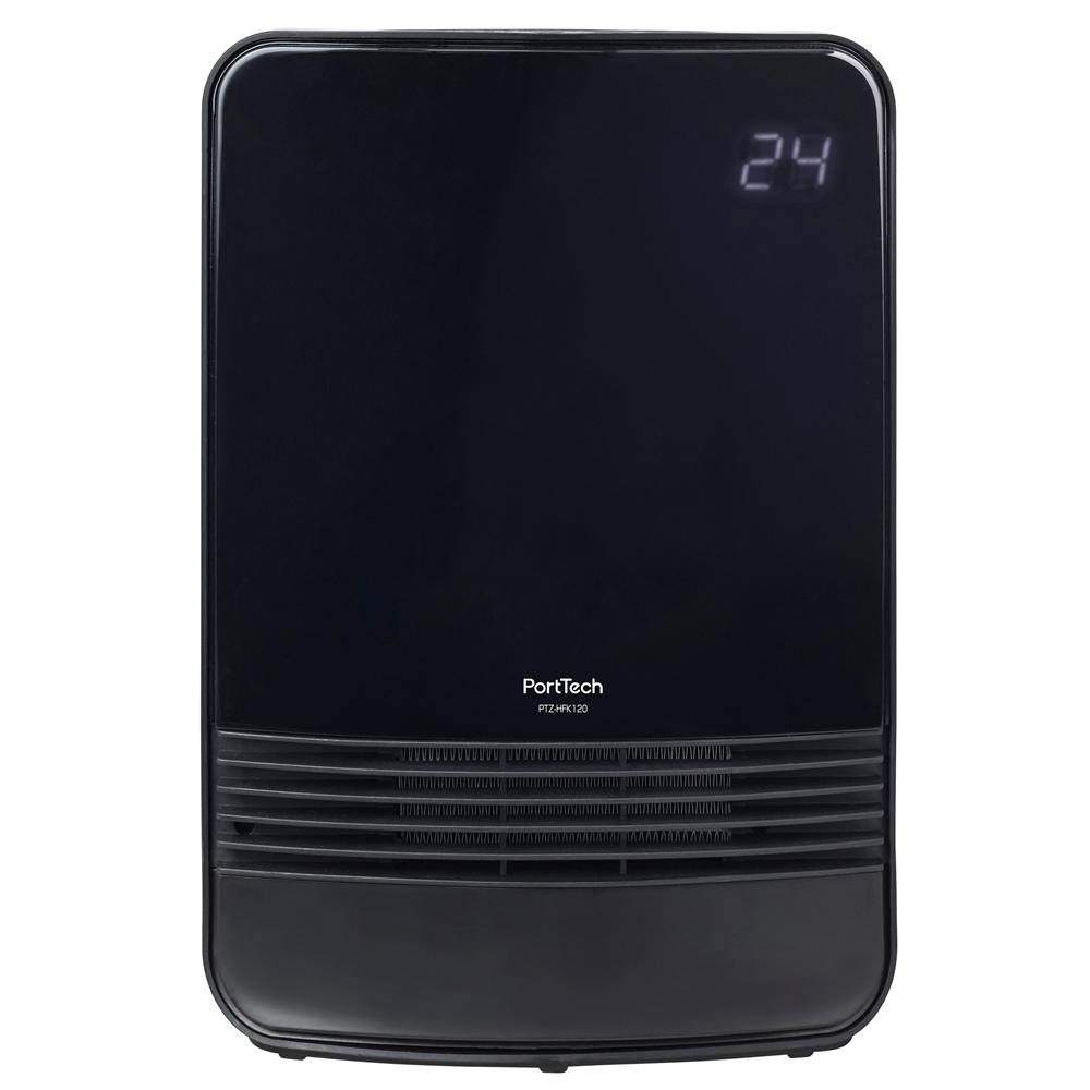 コーナン オリジナル PortTech 温度センサー付セラミックヒーター PTZ−HFK120(B) 1 ブラック 幅250×奥行120×高さ365mm