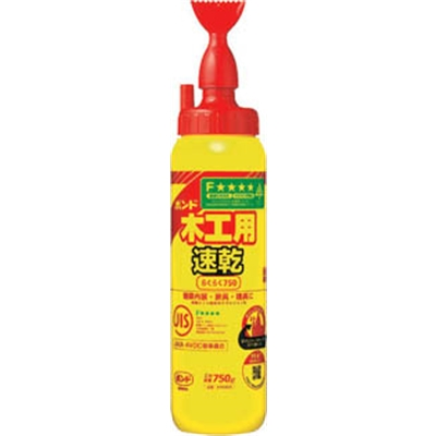 コニシ(Konishi)  ボンド木工用速乾 らくらく750 750g(ボトル) 40300