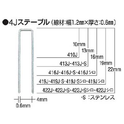 MAX タッカ用ステープル 肩幅4mm 長さ16mm 5000本入り 416J