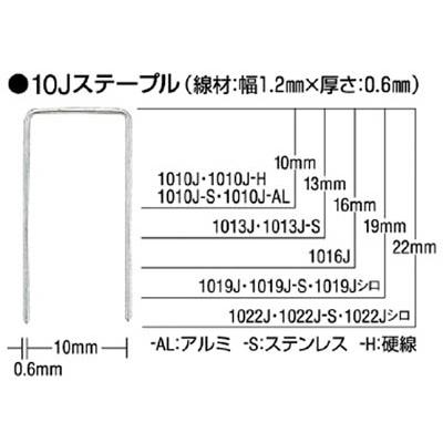 MAX ステープル(白) 肩幅10mm 長さ22mm 5000本入り 1022JWHITE
