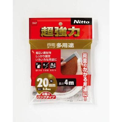 ニトムズ 超強力両面テープ多用途 20×4 T4543
