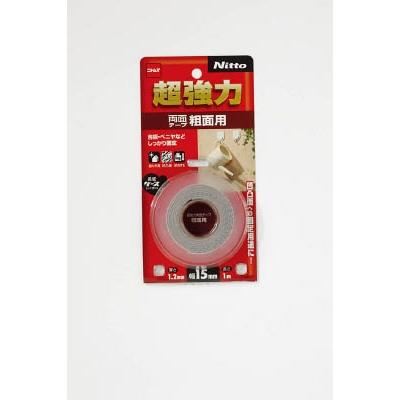 ニトムズ 超強力両面テープ粗面用 15×1 T4590