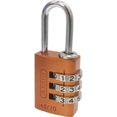 ABUS ナンバー可変式南京錠 145−20 オレンジ 145-20-OR