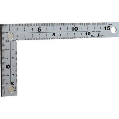 シンワ 曲尺 厚手広巾シルバー15cm 表裏同目マグネット付 10435