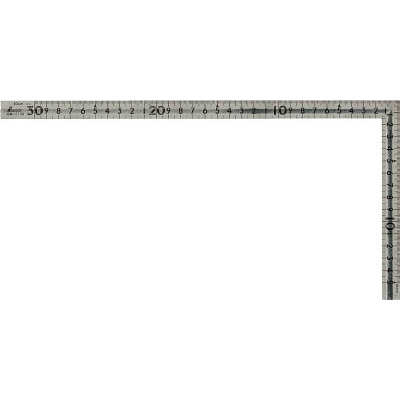 シンワ 曲尺小型 溝付ステン30cm×15cm 表裏同目 12130
