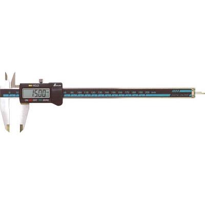 シンワ デジタルノギス大文字200mmホールド機能付 19976