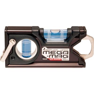 シンワ ハンディレベル MEGA−MAG 100mm黒マグネット付 73131