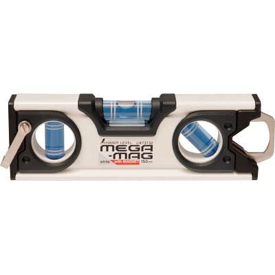シンワ ハンディレベル MEGA−MAG 150mm白マグネット付 73132