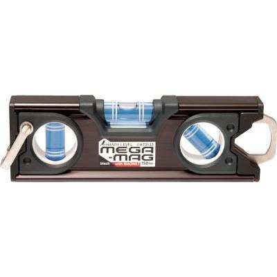 シンワ ハンディレベル MEGA−MAG 150mm黒マグネット付 73133