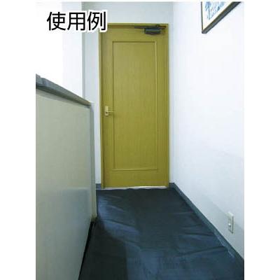 ワニ印 塩ビ養生シート 黒 厚み0.15MM 1M×50M 003080