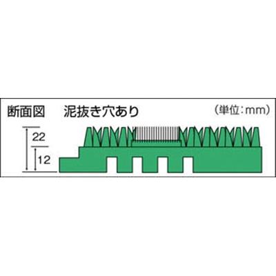 コンドル (屋外用マット)エバックブラシハードマットYL 本駒 緑 F-117-HK-G
