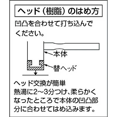 ベッセル プラスチックハンマー替頭70#11/2 70H-15