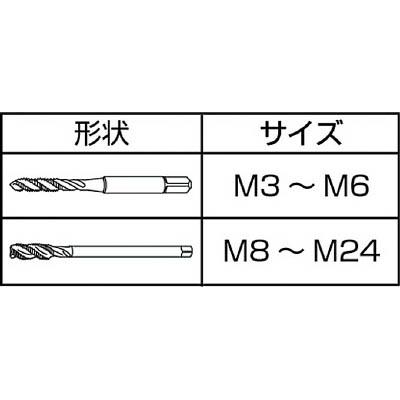 IS コバルトスパイラルタップ M5X0.8 COSPT-M5X0.8(ISP-5C)(M5X0.8)