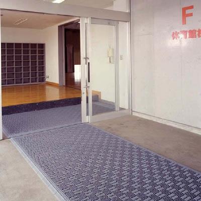 ミヅシマ クロスラインマットエース 150X150 グレー 420-0310