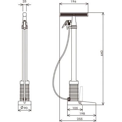 フルプラ ダイヤポンプ空気入れ減圧タンク付きイエロー 900-Y